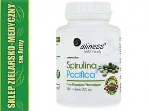SPIRULINA HAWAJSKA PACIFICA 500mg 180 Tabletek