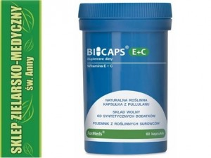 BICAPS E+C 60 Capsules Vitamin E and C